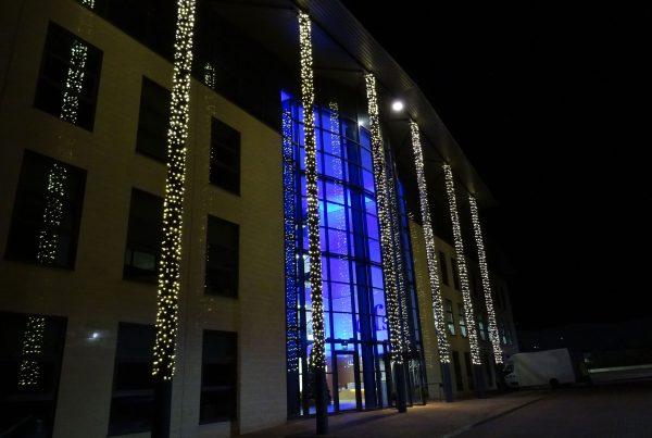 Exterior lighting at DFS Head Office